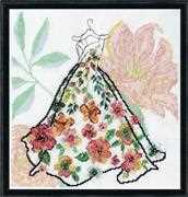 Design Works Crafts Ball Gown Floral Cross Stitch Kit