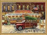 Design Works Crafts Route 66 Christmas Cross Stitch Kit