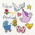 Bothy Threads New Baby Card Cross Stitch Kit