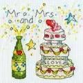 Bothy Threads Cheers Card Wedding Sampler Cross Stitch Kit