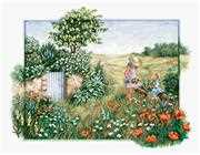 Luca-S Landscape with Poppies Cross Stitch Kit