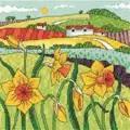 Heritage Daffodil Landscape - Evenweave Cross Stitch Kit