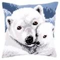 Vervaco Polar Bears Cushion Christmas Cross Stitch Kit