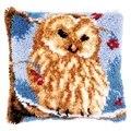 Vervaco Owl Latch Hook Cushion Latch Hook Kit