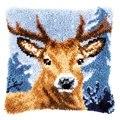 Vervaco Reindeer Latch Hook Cushion Latch Hook Kit