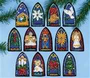 Design Works Crafts Stained Glass Felt Ornaments Christmas Craft Kit