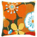 Vervaco Retro Floral Cushion Cross Stitch Kit