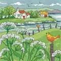 Heritage Cow Parsley Shore - Aida Cross Stitch Kit