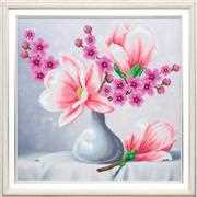 VDV Touch of Tenderness Floral Cross Stitch Kit