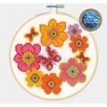 DMC Fluttering Butterflies Floral Cross Stitch Kit