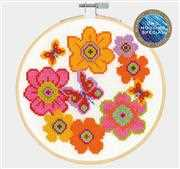 DMC Blooms and Butterflies Floral Cross Stitch Kit
