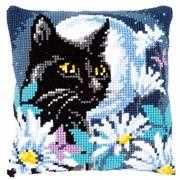 Vervaco Cat in the Night Cushion Cross Stitch Kit