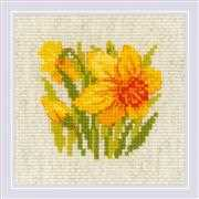 RIOLIS Yellow Narcissus Floral Cross Stitch Kit