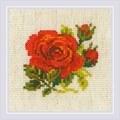 RIOLIS Red Rose Cross Stitch Kit