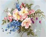 Luca-S Bouquet with Bells Floral Cross Stitch Kit
