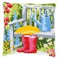Vervaco My Garden Cushion Cross Stitch Kit
