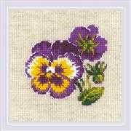 RIOLIS Pair of Pansies Floral Cross Stitch Kit