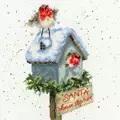 Bothy Threads Santa Please Stop Here Christmas Cross Stitch Kit