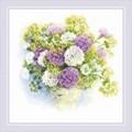 RIOLIS Watercolour Carnations Floral Cross Stitch Kit