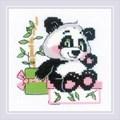RIOLIS Panda Gift Cross Stitch Kit