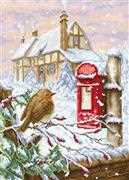 Luca-S Red Mail Box Christmas Cross Stitch Kit
