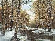 Luca-S First Snow - Petit Point Kit Tapestry