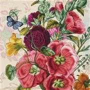 Luca-S Summer Flowers Floral Cross Stitch Kit