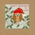 Bothy Threads Xmas Owl Christmas Card Making Cross Stitch Kit
