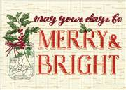 Dimensions Merry and Bright Christmas Cross Stitch Kit