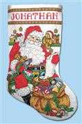 Design Works Crafts Checking His List Stocking Christmas Cross Stitch Kit