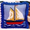 Gobelin-L Sail Boat Cushion Cross Stitch Kit