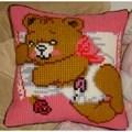 Gobelin-L Baby Bear Pink Cushion Cross Stitch Kit