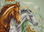 Gobelin-L Two Horses Tapestry Canvas