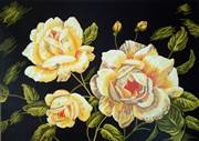 Gobelin-L Yellow Roses Tapestry Canvas