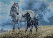 Gobelin-L Horse with a Foal Tapestry Canvas