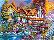 Gobelin-L House of Flowers Tapestry Canvas