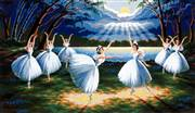 Diamant The Swan Lake Tapestry Canvas