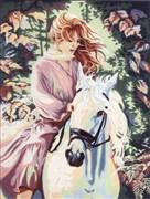 Diamant Red Rider Tapestry Canvas
