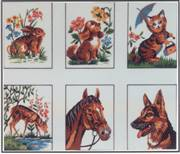 Diamant Collection of Six Animals A Tapestry Canvas