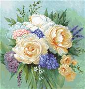 Luca-S Floral Bouquet - Petit Point Kit Tapestry