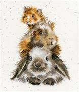 Bothy Threads Piggy In The Middle Cross Stitch Kit