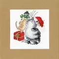 Bothy Threads Under The Mistletoe Christmas Card Making Cross Stitch Kit