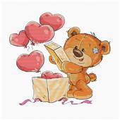 Luca-S Teddy Bear Hearts Cross Stitch Kit