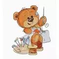 Luca-S Teddy Bear Stitching Cross Stitch Kit