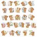 Luca-S Teddy Bear Alphabet Cross Stitch Kit