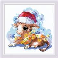 RIOLIS New Years Calf Christmas Cross Stitch Kit