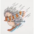 Klart Ski-ing Hedgehog Cross Stitch Kit