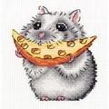 Klart Hamster Snack Cross Stitch Kit