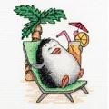 Klart Penguin Holiday Cross Stitch Kit