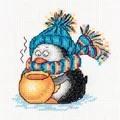 Klart Penguin Cocoa Christmas Cross Stitch Kit
